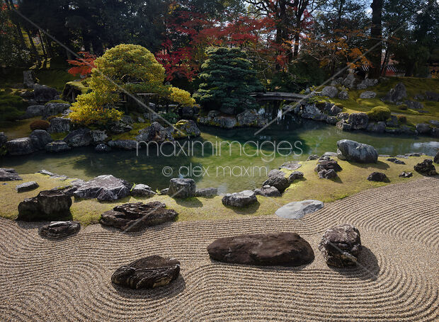 Stock Photo Of Japanese Zen Rock Garden With Kamo No Sanseki Stones In  Front Of A Pond At Sanboin Buddhist Temple Daigoji Kyoto Japan