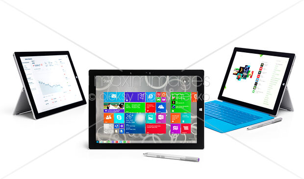 Stock Photo of Microsoft Surface Pro 3 tablets Image MXI27244 at  MaximImages com
