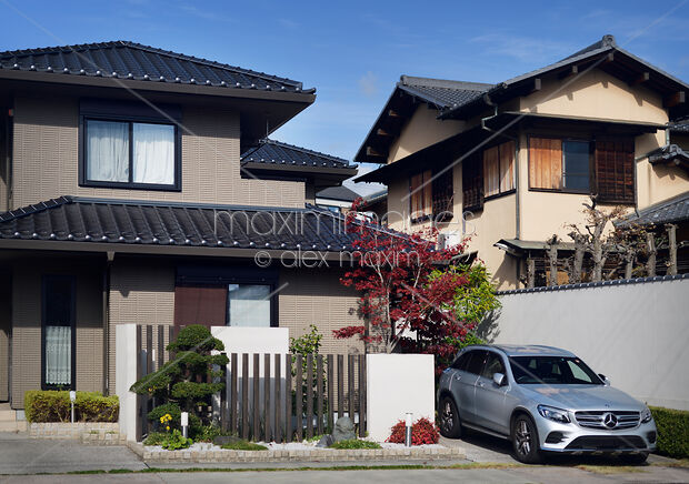 Stock Photo Of Modern Japanese House Exterior In Kyoto Image Mxi31188 At Maximimagescom