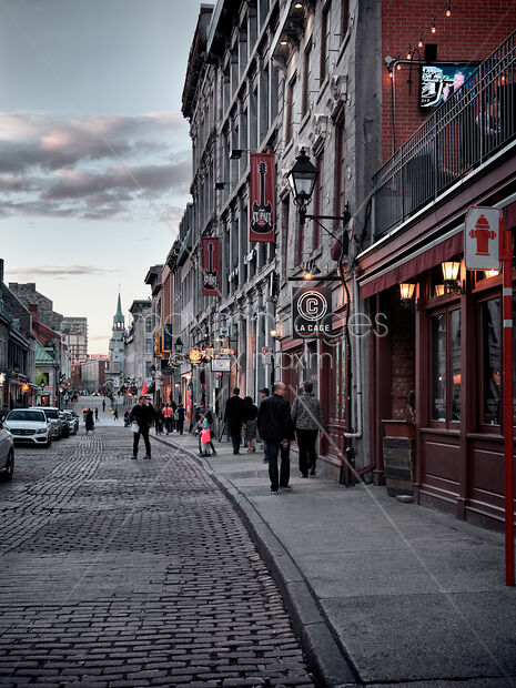 Stock Photo Of S And Restaurants On Historic Street Old Town Rue Saint Paul In Montreal