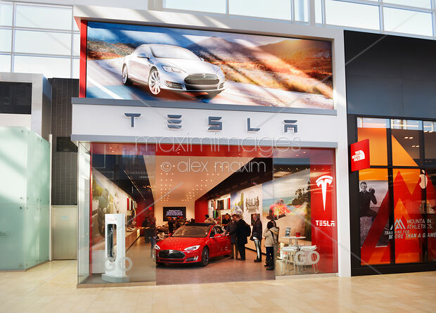 Photo Of Tesla Display In Toronto Canada