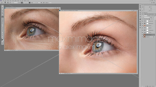 Stock photo of Womans eye photo retouched in Photoshop